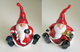 Christmas Sitting Santa Ornament in 2 Styles